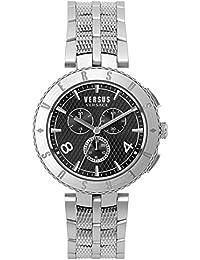 Versus by Versace Logo Gent Chrono Reloj de cuarzo de acero inoxidable, modelo: S76140017