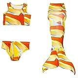 Le SSara Mädchen Cosplay Kostüm Badebekleidung Meerjungfrau Shell Badeanzug 3pcs Bikini Sets (140, K-JP80)