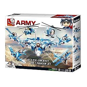 Sluban M38-B0665 Army-6 Into 1 Fight Jet (Caja de Regalo), Color Multi-Colors M38-B0665