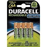 Duracell - 10668 - Lot de 4 piles alcaline type hr06 1.2 volts rechargeables