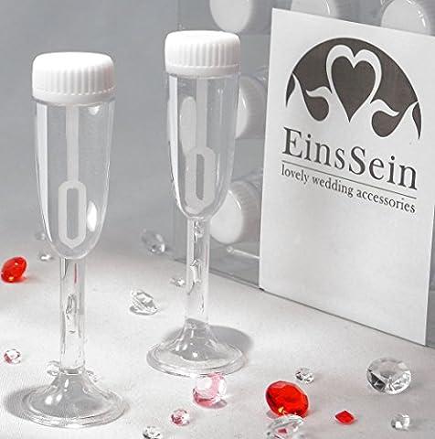 72x WEDDING BUBBLES Seifenblasen HOCHZEIT EinsSein® Glas weiss | Unverzichtbar für perfekte Hochzeitsfotos | Party Goldene Hochzeit Geburtstag Feier Kommunion Gastgeschenke Hochzeit