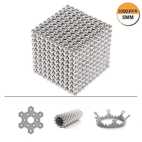 uzzle Magnetbausteine stücke Magnet Set Bausteine Magnetkugel Magnetstab Stapeln Spiel Puzzles Spielzeug für Kinder und Erwachsene ()