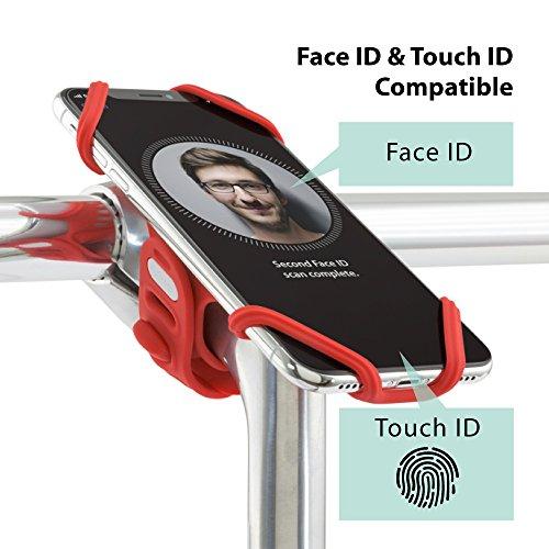 Bone Collection Face ID Kompatibel, Fahrrad Handyhalterung für Den Vorbau für 4-6,2 Zoll Smartphones, Ultra Leicht, Bricht/rostet Nicht, für Straßen-, Renn- Sowie Tourenrad
