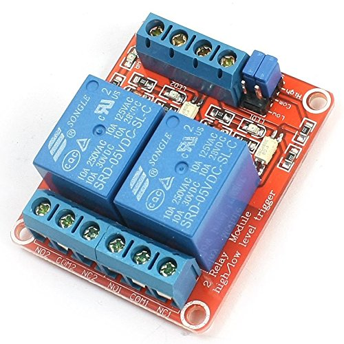 GEREE DC 5V 2 Kanal Relaismodul High / Low Level Trigger mit Optokoppler für Arduino