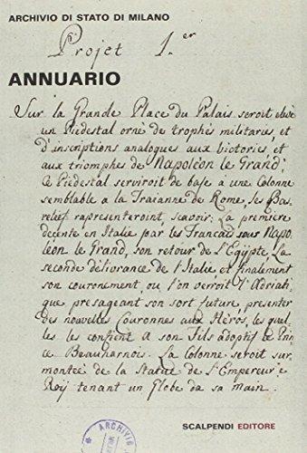 Annuario dell'archivio di Stato di Milano por aa.vv.