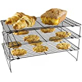 Andrew James Three-Tier Stackable Cooling Rack 39.5cm X 25cm - Can Also Be Used Individually - Great For Space Saving
