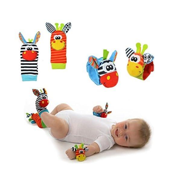 Hosairen Calcetines para Bebé, con Juguetes, Adecuado para bebé 0-6 Meses, Sonajeros incorporados 2