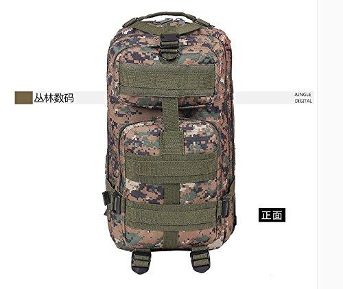I pacchi postali doppia spalla zaino 3p attentato contro pack outdoor alpinismo camouflage Borsa Commando speciale multi-funzione pack di carica, tre sabbia camouflage Jungle Digital