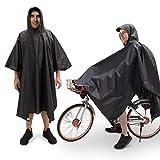 JTENG Regenponcho Regenmäntel Fahrrad Regencape Wasserdicht Regenjacken mit Kaputze Schild und Reflektierendes Band Atmungsaktiv Regen Poncho tragbarer Leicht Regenmantel Wiederverwendbar
