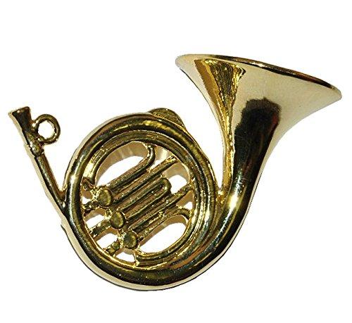 Miniatur Horn / Waldhorn - Metall Maßstab 1:12 - Puppenhaus Blechblasinstrument - Musikinstrument Musik Instrument Orchester Wiener