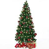 Deuba Weihnachtsbaum 150 cm | künstlicher Christbaum | Tannenbaum Stecksystem Weihnachten