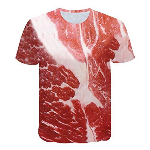 Herrenhemd Elegantes, lässiges Kurzarm-T-Shirt - Herren-T-Shirt Vintage 3D - Stretch-T-Shirt Herren-Baumwollpullover Tumblr Summer Details Kurze T-Shirts