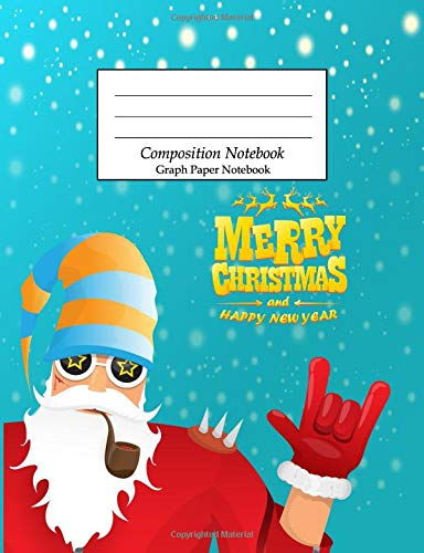 Composition Notebook Graph Paper Notebook: Wide Ruled School Office Home Student Teacher College Ruled 110 Pages - Christmas (School Composition Notebooks)