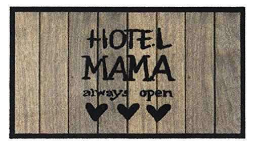 Fussmatte - Fußmatte - Schmutzabstreifer - Sauberlaufmatte - Fußabstreifer - Fußabtreter - Türmatte - Motivfußmatte - Fußmatte - Schmutzfangmatte - Hotel Mama - always open- witzig Grösse 40 x 70 cm