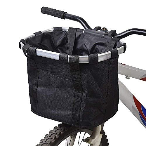 IW.HLMF Haustier Fahrradträger Korb Folding Abnehmbare Tasche Fahrrad Fahrrad Abnehmbare Zyklus Vorne Leinwand Aluminiumlegierung Rahmen,A