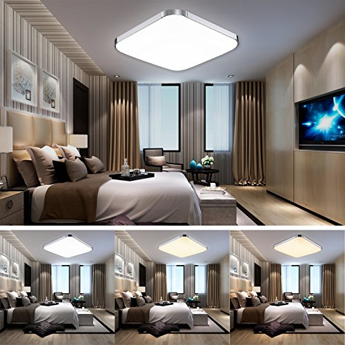 hengda led 36w 48w deckenleuchte energiespar modern deckenlampe esszimmer wohnzimmer badezimmer. Black Bedroom Furniture Sets. Home Design Ideas