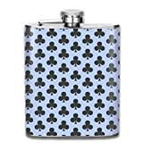 Funky Poker Cards Grey Pattern 7 Oz Printed Stainless Steel Hip Flask For Drinking Liquor E.g. Whiskey, Rum, Scotch, Vodka Rust Great Gift