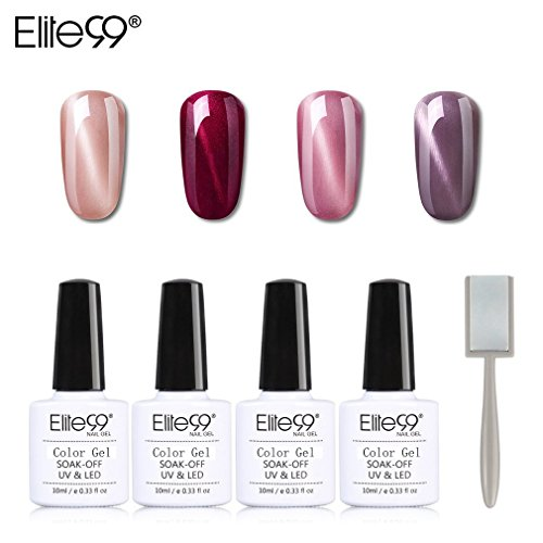 Elite99 Esmalte Semipermanente UV LED 4pcs Kit Uñas