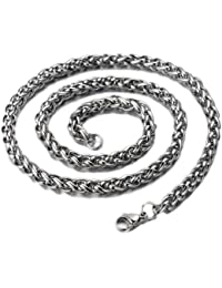 b33cbc301a9f Amazon.es  cadenas plata largas - Acero inoxidable   Colgantes ...