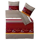 Celinatex Ropa de cama algodón 200x 200Celin ATEX 0003886Fashion mikka Burdeos Rojo Gris