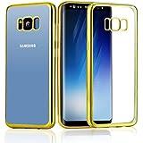 Samsung galaxy S8 Funda, KKtick Suave Absorción TPU Parachoques Carcasa Case y Anti-Arañazos Flexible Funda protectora para Samsung galaxy S8 cover (Oro)