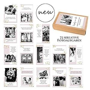 72 kreative Fotoaufgaben für unvergessliche Hochzeitsfotos/Fotokarten/Hochzeit Fotoideen/Hochzeitsspiel/Schön, dass du…