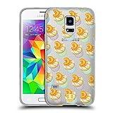 Head Case Designs Pfirsich Und Creme Pfirsiche Soft Gel Hülle für Samsung Galaxy S5 Mini