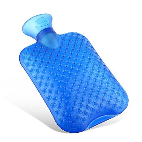 Kufl Massage-Wärmflasche aus PVC mit großer Öffnung, geruchsfrei - lindert Nacken-, Rücken- und Schulterschmerzen durch Wärme-Therapie