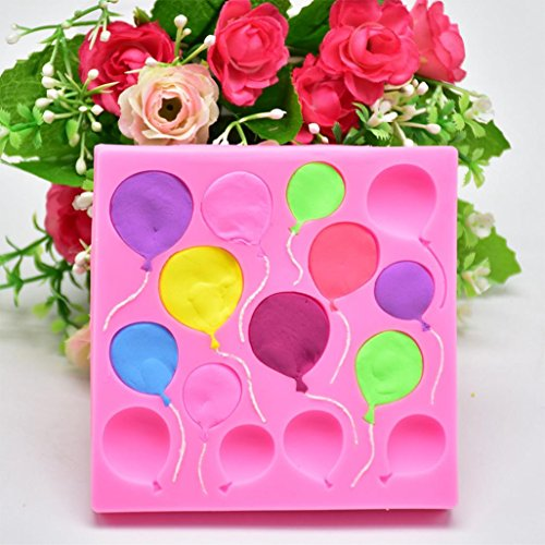 Anzahl Schokolade Formen (Winkey Kuchenform, Silikon Luftballons Fondant Kuchen Sugarcraft Schokolade Dekorieren Form Backen Werkzeuge)