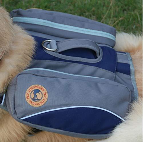 Sainode Tragetasche Hundetasche Hunderucksack zum Wandern Kompakte Hundesatteltasche für Hunde Verstellbarer Hundegeschirr Hundewanderausrüstung,Blue,L travel Hochwertige