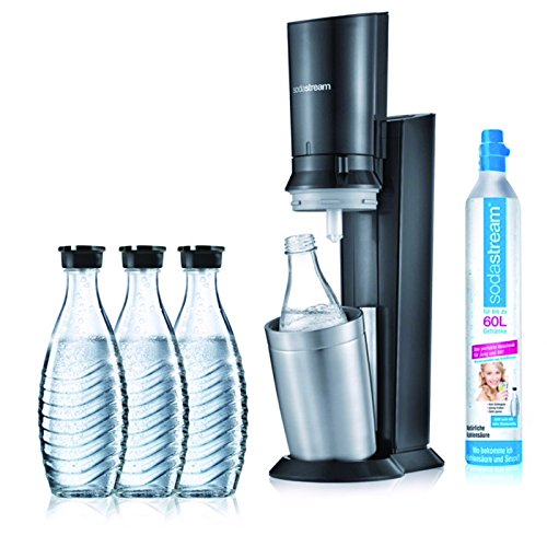 Crystal 2.0 Promopack Wassersprudler Aktionspack mit 3 Karaffen Titan
