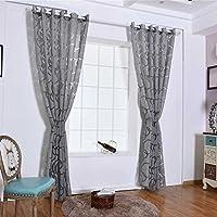 Providethebest Círculo de la burbuja Tijeras translúcido cortina de la ventana balcón de la sala semitransparente Persianas puerta de la habitación divisor Burbujas cortinas gris 100*250cm