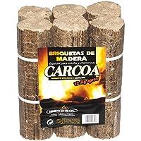 Carcoa Chimenea 0611 - Briqueta de madera, 12 kg, color marrón
