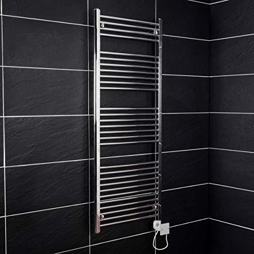 Elektrischer Thermostat Handtuchheizkörper elektro Badheizkörper 1500x600 Chrom