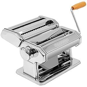 monzana® Nudelmaschine Pastamaschine Pastamaker aus Edelstahl für 9 verschiedene Teigdicken