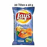 Lays Chips Paprika 20 x 40 g kleine tüten paprika chips