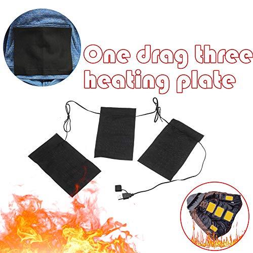 Berrose-Elektrische Heizkissen Thermische Kleidung Beheizte Jacke Outdoor-Mobile-Wärmegang-Elektrische Heizung Thermo-Kleidung Pad Beheizte Jacke für Winter Outdoor Sport