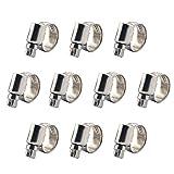 Sinmova 10PCS 8-16mm Verstellbarer Edelstahl-Schneckenantrieb Schlauchklemmen Schlauchschellen Rohrleitungsarmaturen