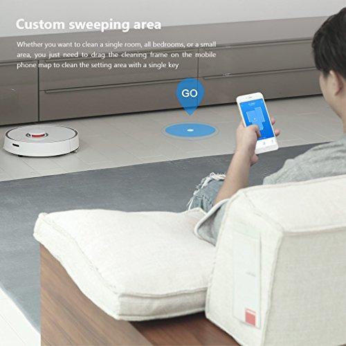 komfortable app-steuerung des xiaomi roborock staubsauger roboters