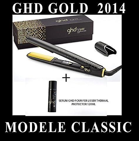 GHD - SERUM GHD PROTECTEUR + LISSEUR FER A LISSER STYLER CLASSIC GOLD PLAQUE MOYENNE