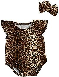 Mono Bebé, Amlaiworld Bebé de verano recién nacido leopardo ropa de la venda conjuntos 0-18 Mes