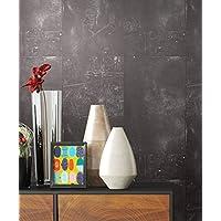 Tapete Metalloptik In Anthrazit | Schöne Moderne Tapete Für Ihr Wohnzimmer  | Inklusive Der Newroom