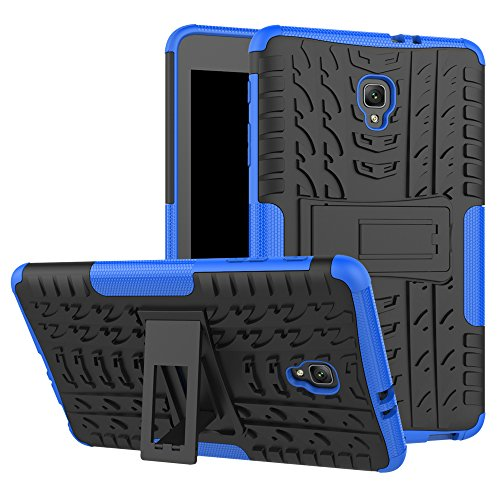 Tab A 8.0Coque T380, Ankoe Heavy Duty Hybride Fin Double Couche Robuste en Caoutchouc Armour Defender Coque de Protection Antichoc avec béquille pour Samsung Galaxy Tab A 8.02017Sm-t380/T385 Bleu
