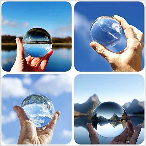 Hehilark Glaskugeln Deko, Glaskugeln Kristallkugel 100 mm Gut Zum Fotografieren für deko/Fotografie/murmeln/Hause -