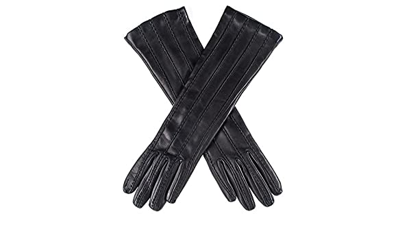 684991093bd2 Black Leather Musketeer Gloves with Points  Amazon.co.uk  Clothing