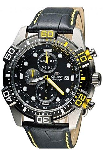 Orient Orologio Cronografo Quarzo Uomo con Cinturino in Pelle FTT16005B0