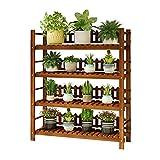 Unità di legno del banco di mostra della scaffalatura di teatro della piantatrice del giardino di 4 file, ideale per la scala dell'interno delle piante di vaso degli arbusti delle erbe del fiore