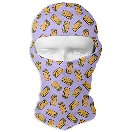 Wfispiy Volle Gesichtsmaske Mexikanischer Burrito Vektor Tactical Frauen und Männer Bandana Headband Headwear