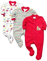 18a1c22c3a2 VADMANS Baby Castle 100% Hosiery Cotton Infants Onesies Rompers Jumpsuit Body  Suit Sleep Suit Full Sleeve Multi-Color Romper for Boys…