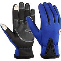 heekpek Mens Gloves Touchscreen Waterproof for Winter Outdoor Sports Black//Blue//Purple